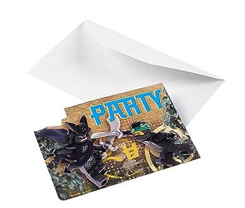 16 Teiliges Einladungskarten Set * LEGO NINJAGO * Für Party Und Geburtstag  //