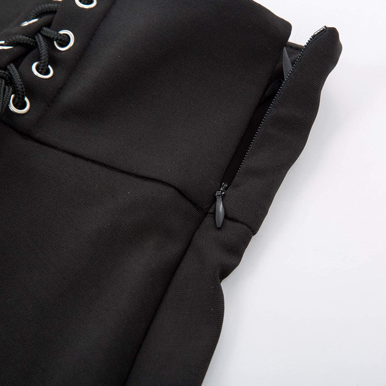 KANCY KOLE Vintage Jupe Longue Femme Gothique Taille Huate Steampunk Victorienne Annee 1900 Elastique Jupe A-Line KC90