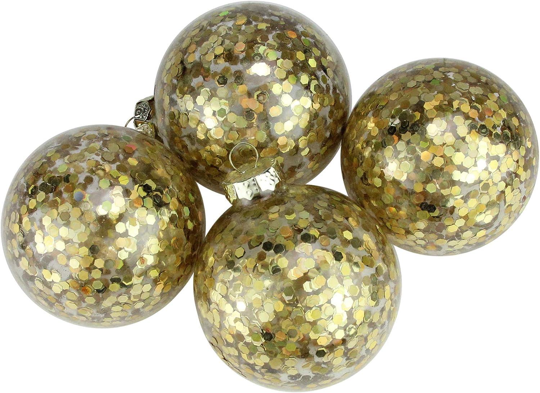Pack de 4 llamativo holográfica dorado Cristal de lentejuelas bola ...