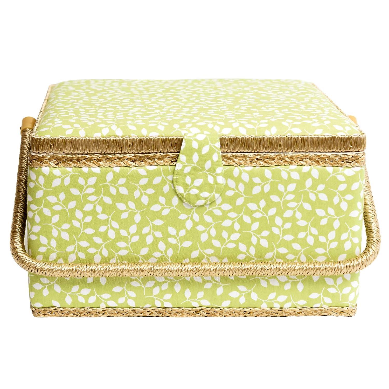 Korbond Cesta de costura para jard/ín oculto color verde 100/% algod/ón tama/ño extra grande