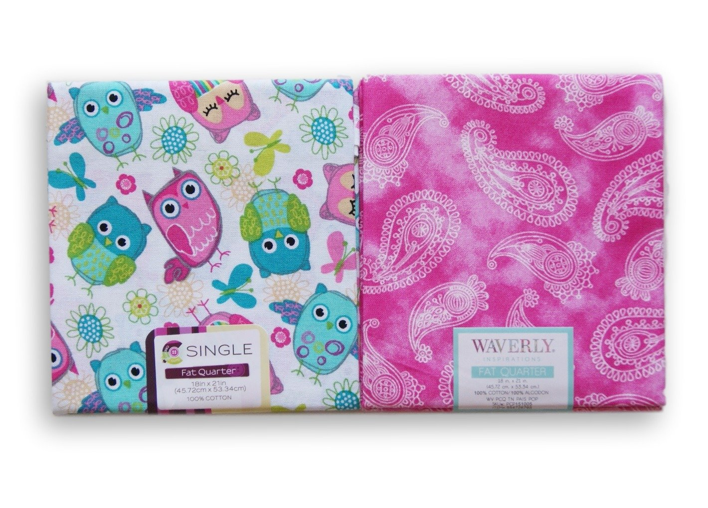 Waverly Inspirations Fat Quarters Bundle - Owls and Pink Paisley 4336995967