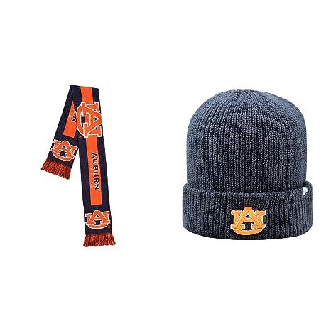 brand new b35e0 49c70 ... reduced ncaa auburn tigers heavy beanie hat and big logo scarf 2 pack  bundle 60cc4 7a7c1