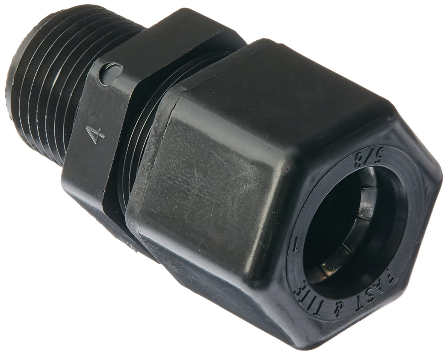 1//2 Compression Tube x 1//2 Male NPTF Pack of 10 Polypropylene Parker Hannifin P8MC8-pk10 Fast /& Tite Male Connector Fitting Black