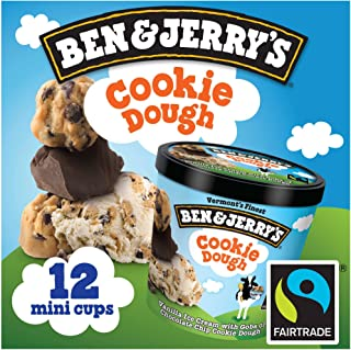 product image for Ben & Jerry's - Vermont's Finest Ice Cream, Non-GMO - Fairtrade - Cage-Free Eggs - Caring Dairy - Responsibly Sourced Packaging, Chocolate Chip Cookie Dough, 4 Oz. Mini Cups (12 count)
