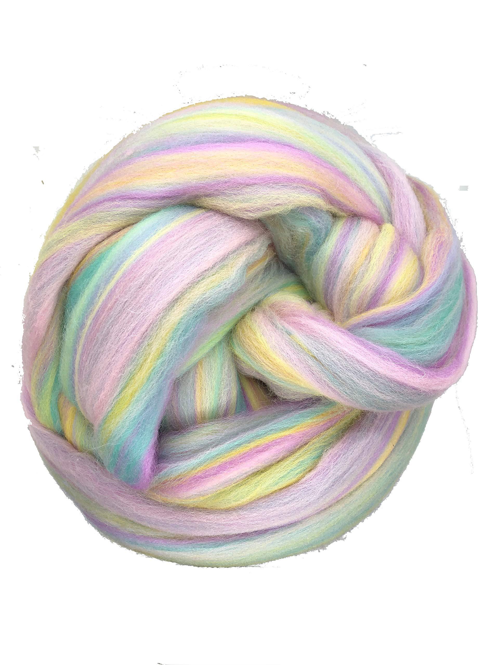 Shep's Pastel Rainbow Merino Wool Top Roving Spinning, Felting Crafts USA (4lb) by Shep's Wool (Image #1)