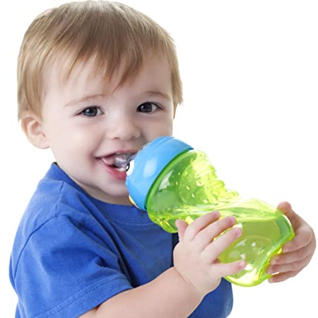 Nuby 3D Monster No Spill Super Spout Gripper Cup, 11 Ounce Sippy Cups at amazon