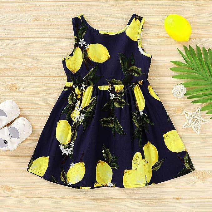 Sleeveless Kid Baby Girls Heart Party Pageant Denim Casual Summer Dress Sundress