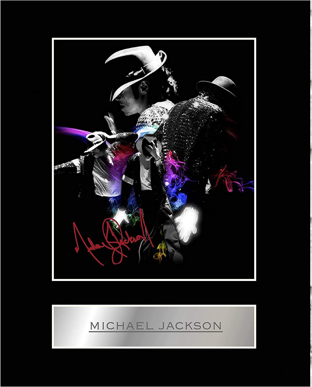 iconic pic Michael Jackson Signed Mounted Photo Display #1 Autographed Gift Picture Print