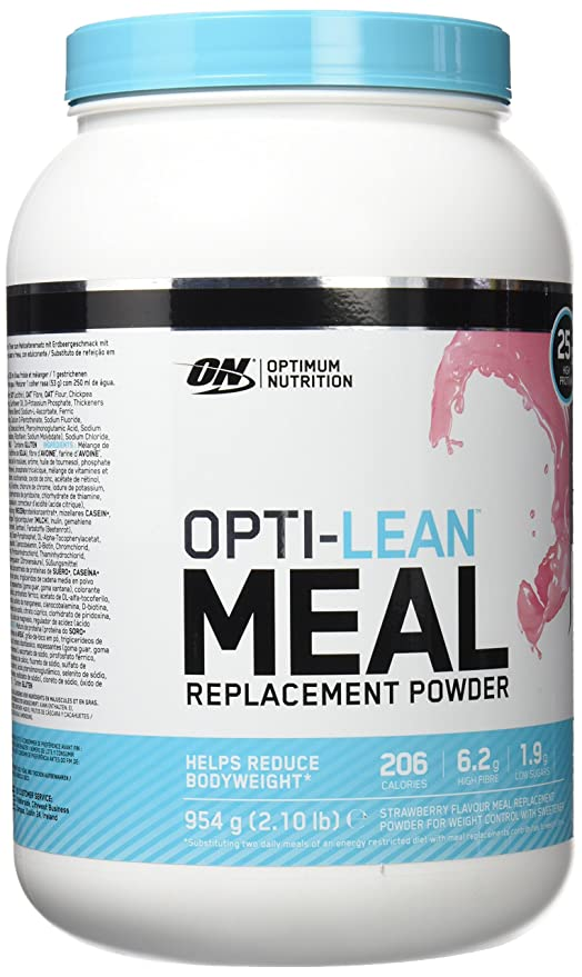 Optimum Nutrition Opti Lean Meal Replacement Strawberry, Sustitutivo de Comida - 954 g