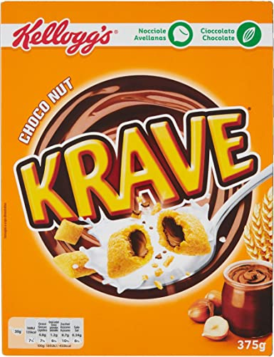 Kelloggs Krave Choco Nut Cereales - 375 g: Amazon.es ...
