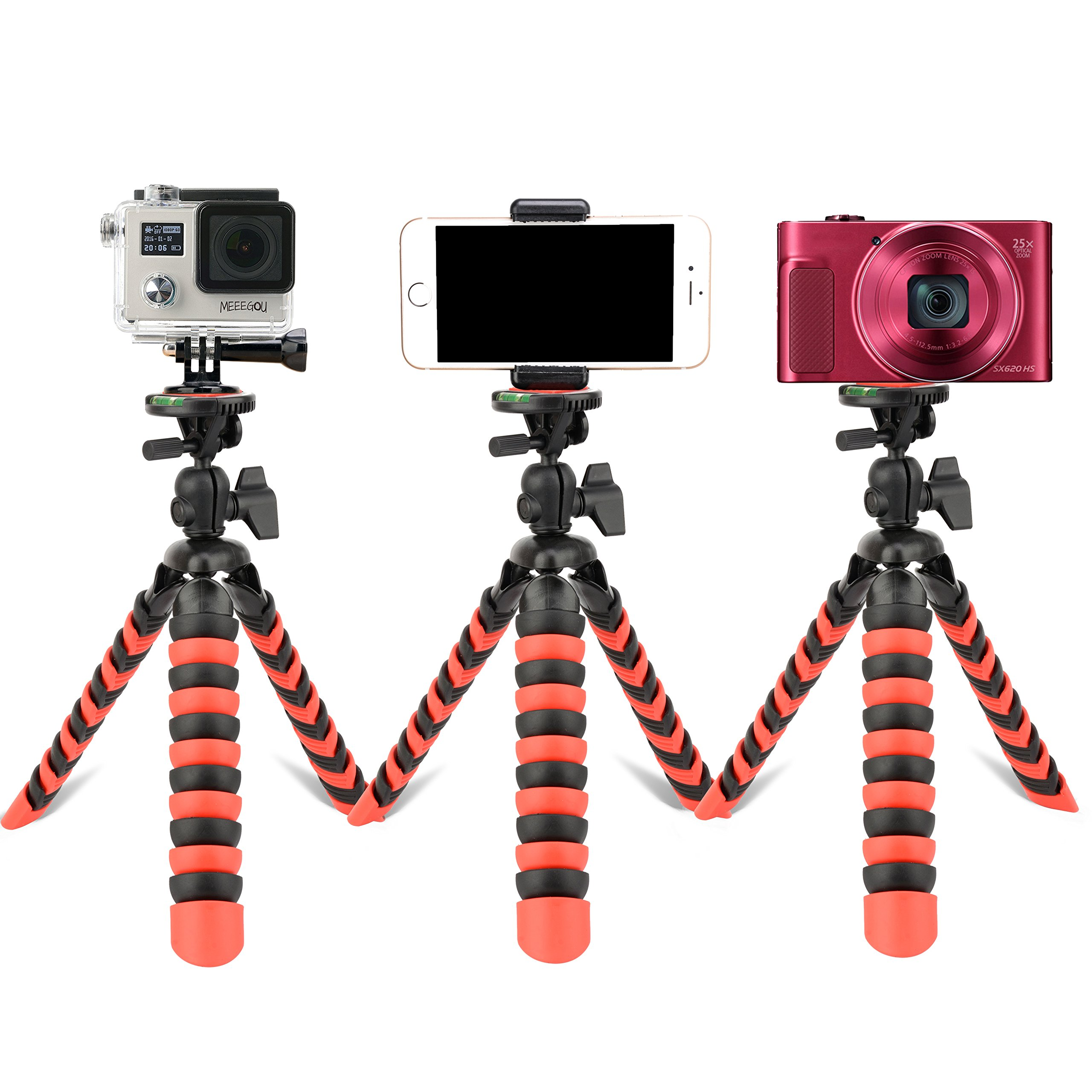 Tairoad Flexible Mini Tripod with Quick Release Plate with Tripod Mount Adapter for Smartphone Gopro