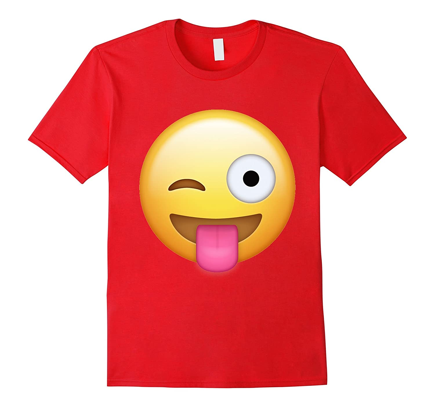 Wink Face Tongue Out Emoji T Shirt-FL