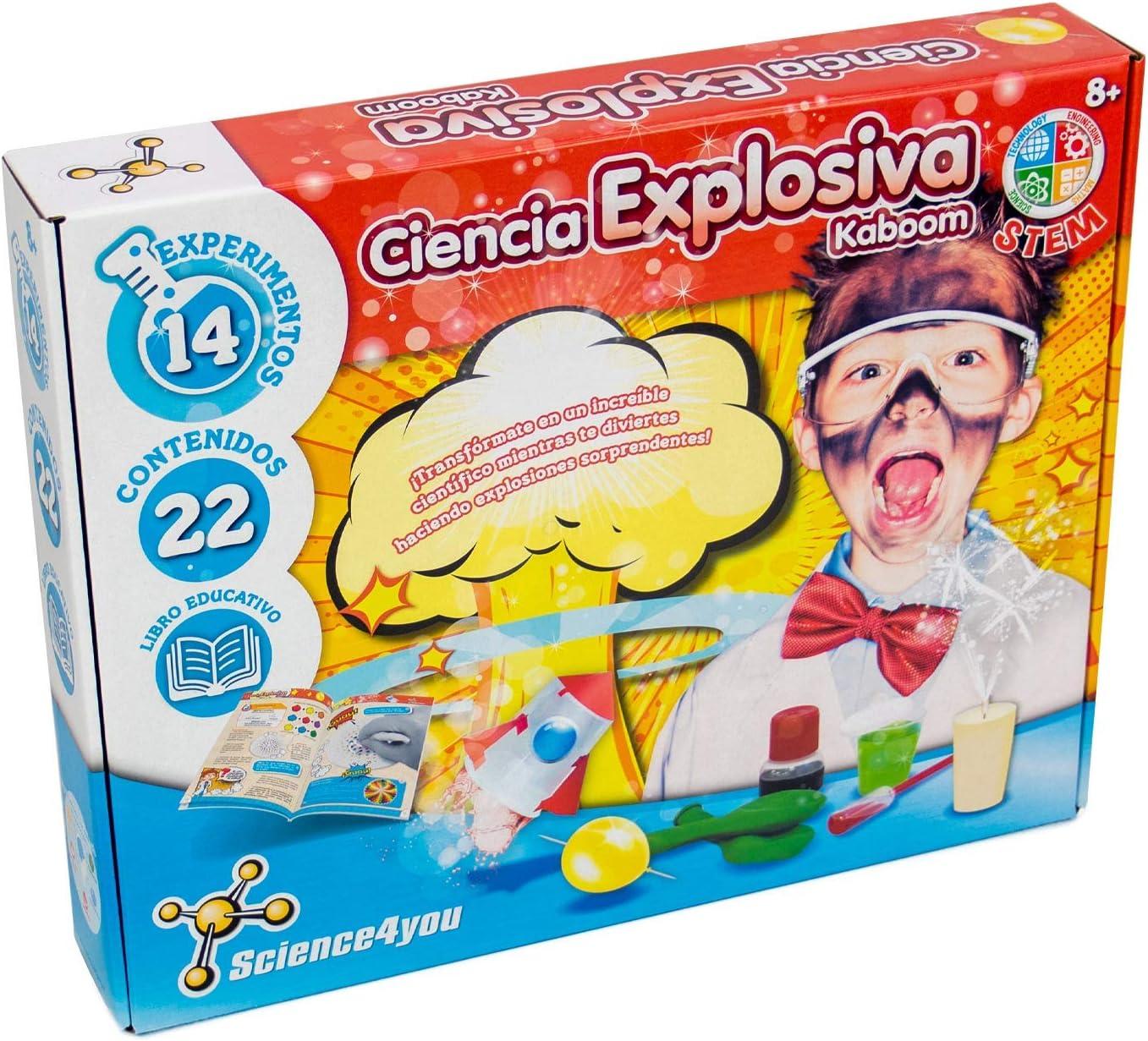 Science4you-5600983608658 Ciencia Explosiva Kaboom para Niños +8 Años, Multicolor (1)