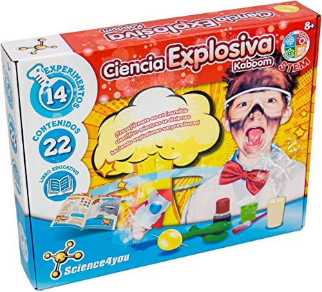 Science4you-5600983608658 Ciencia Explosiva Kaboom para Niños +8 ...