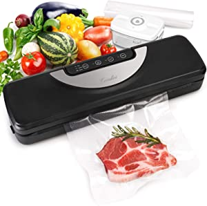 Vacuum Sealer Machine with Cutter & Bags, Automatic Food Meat Savers with Vac Pipe for Jar, Coindivi Air Sealing System Machine with Dry, Gentle, Moist Mode for Food Preservation, Led Touch Controls