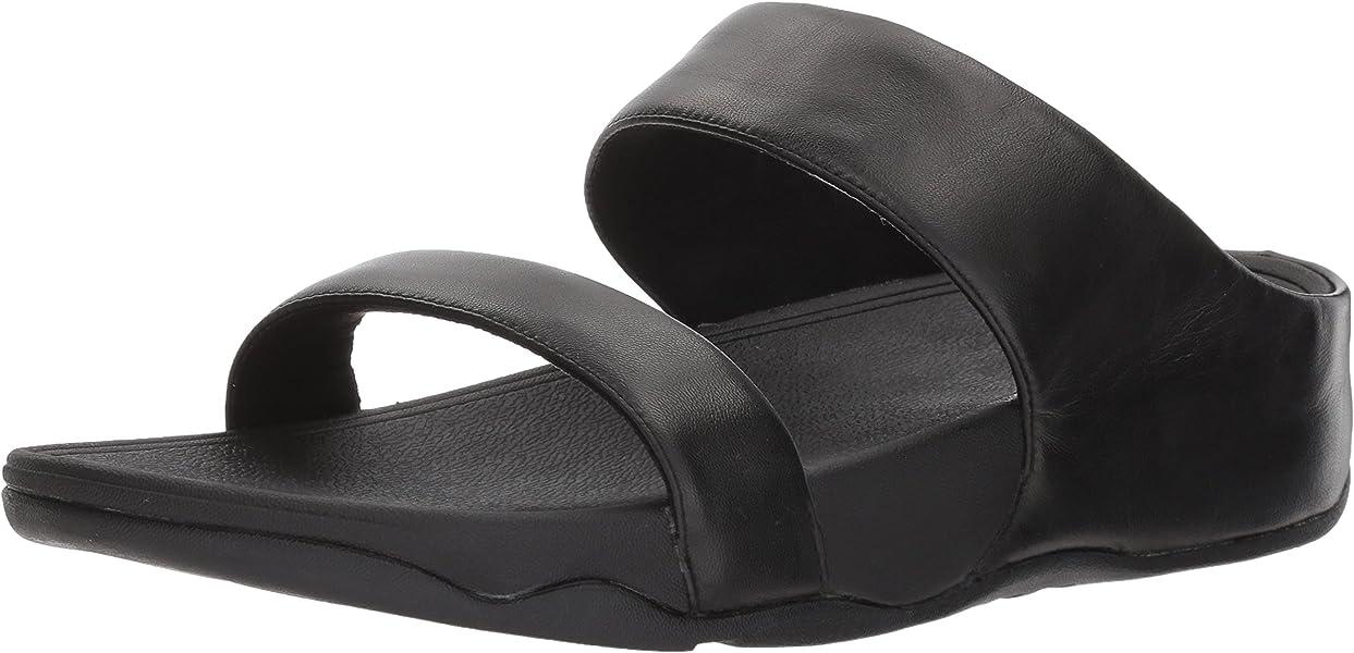 51c2020c5 Amazon.com  FitFlop Women s Lulu Leather Slide Sandal