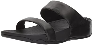 eb4e65a8a2b195 Fitflop Women s Lulu Leather Slide Sandal  Amazon.co.uk  Shoes   Bags