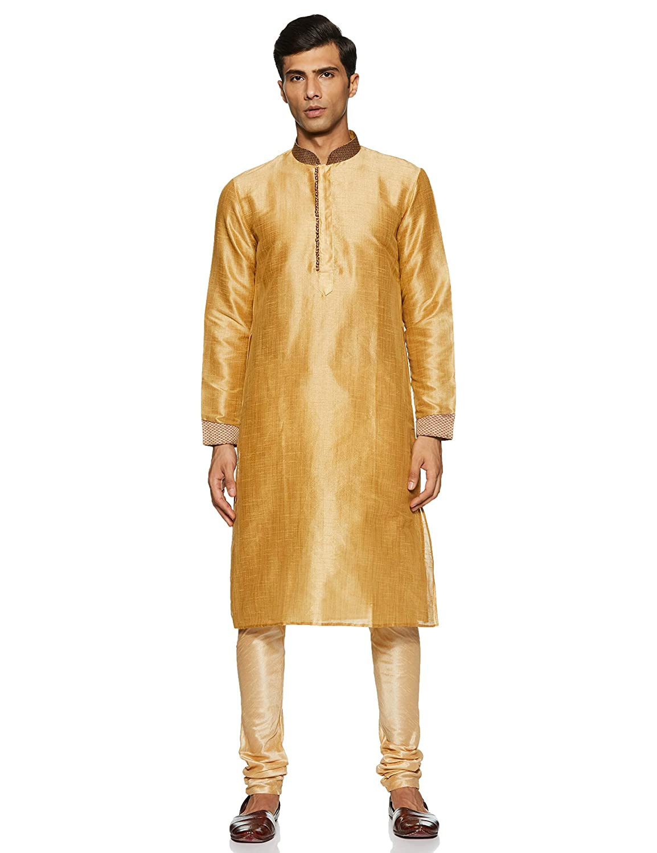 Sanwara Men's Art Silk Achkan Kurta Pyjama