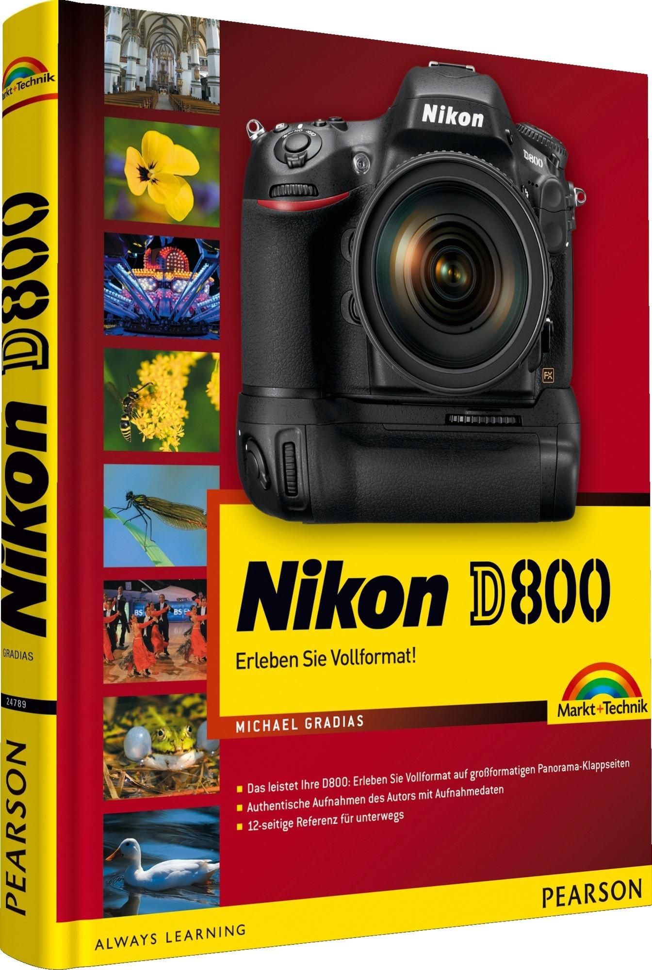 Nikon D800 - mit 12-seitiger Klappkarte: Erleben Sie Vollformat! Mit 12-seitigem Pocket Guide