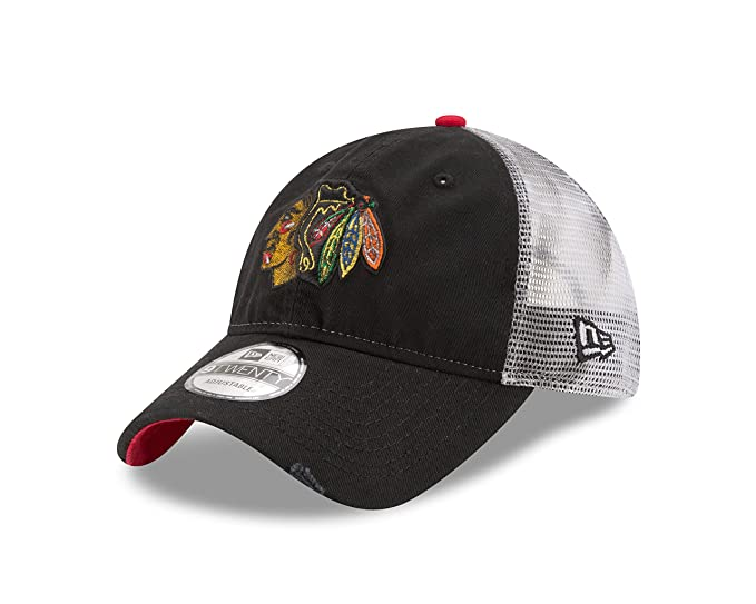 c34998cbbd9 Image Unavailable. Image not available for. Color  Chicago Blackhawks  Snapback Hat ...