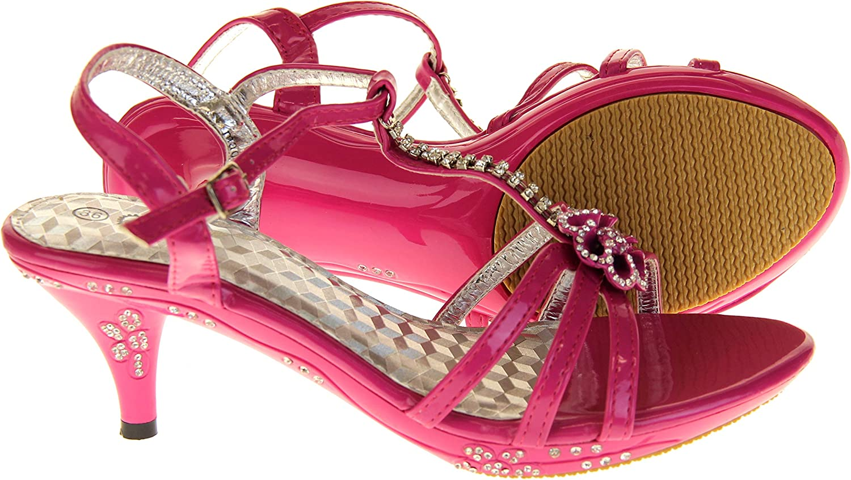 Ice Diamond Girls Low Heel Diamente Design Bridal Wedding Shoes