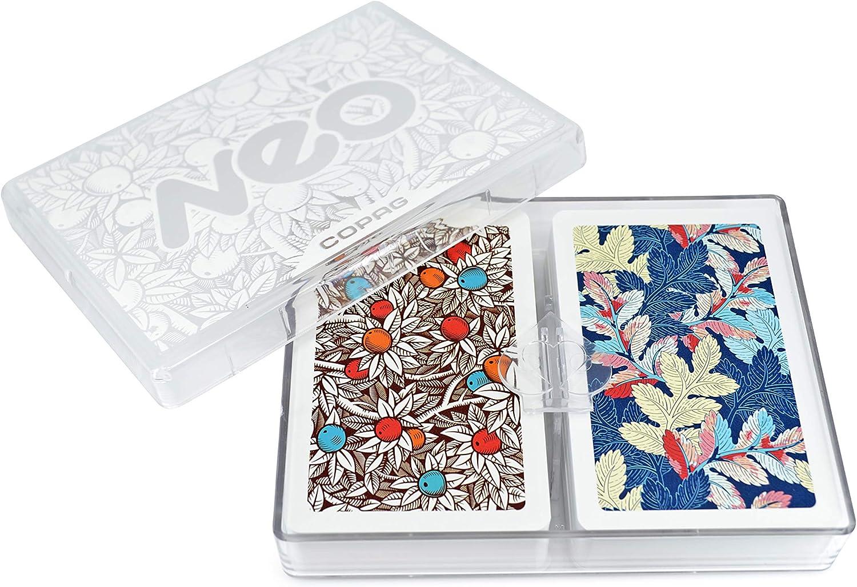 Copag Neo Nature 100% Plastic Playing Cards, Bridge Size Jumbo Index Double Deck Set