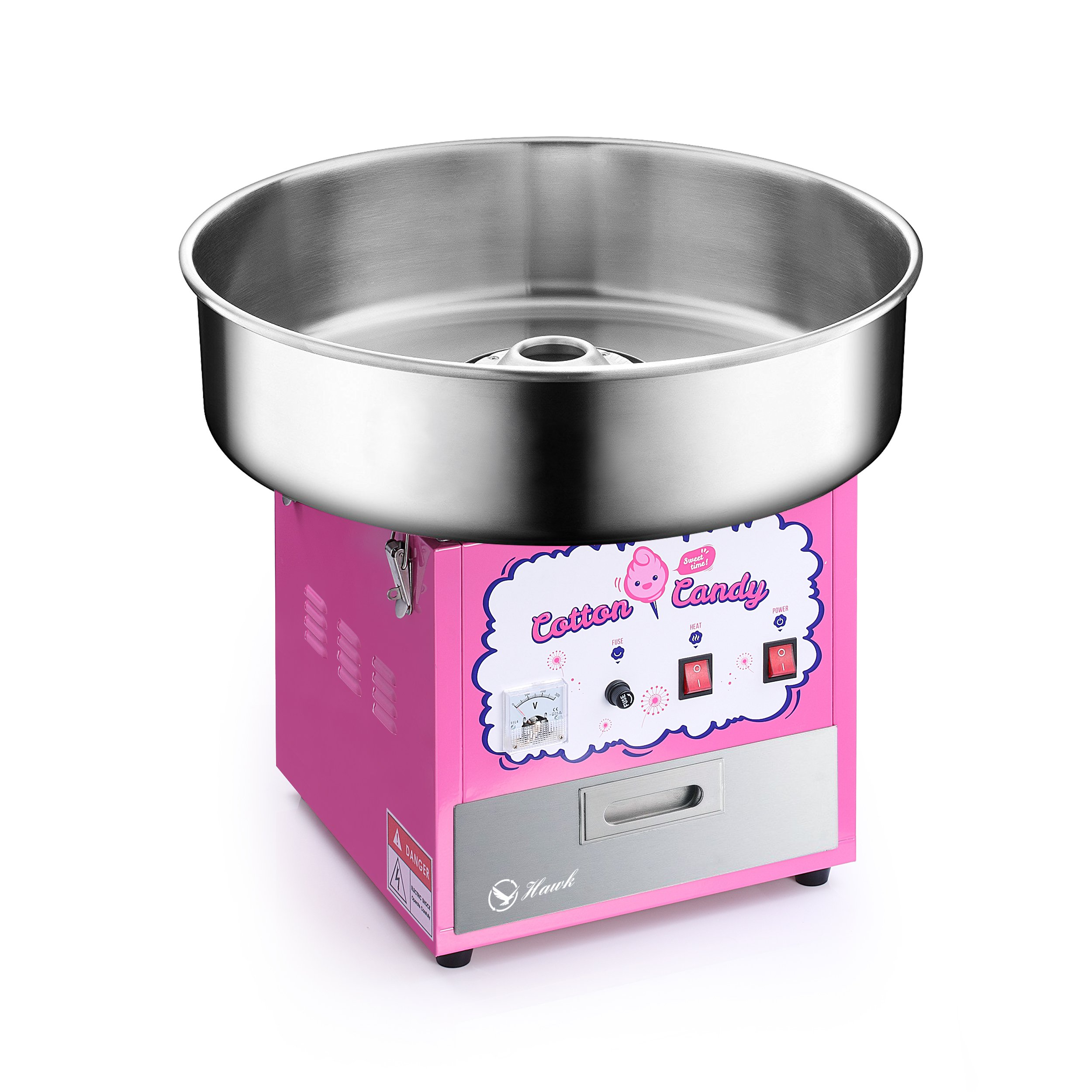 Commercial Quality Cotton Candy Machine / Candy Floss Maker Pink