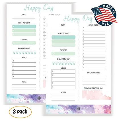 amazon com daily planner pad 2018 2019 daily to do list planning