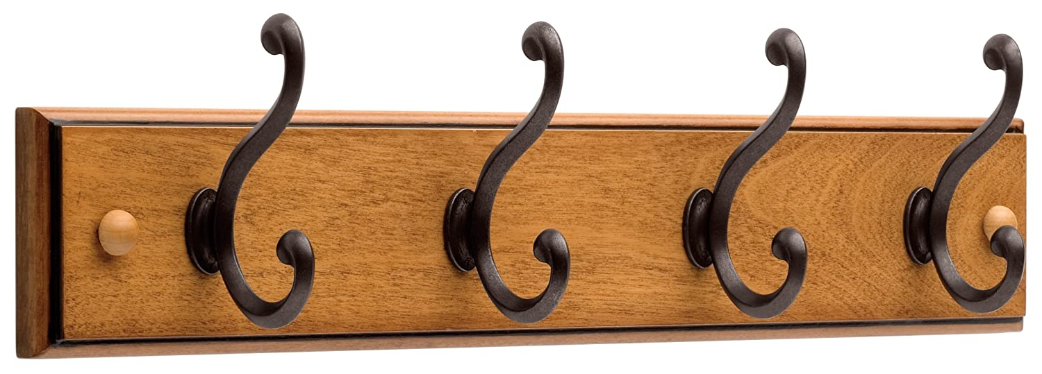 Amazon.com: Liberty 128738 Four hook 18-inch Wide Wooden Hook Rail/Coat  Rack: Home Improvement
