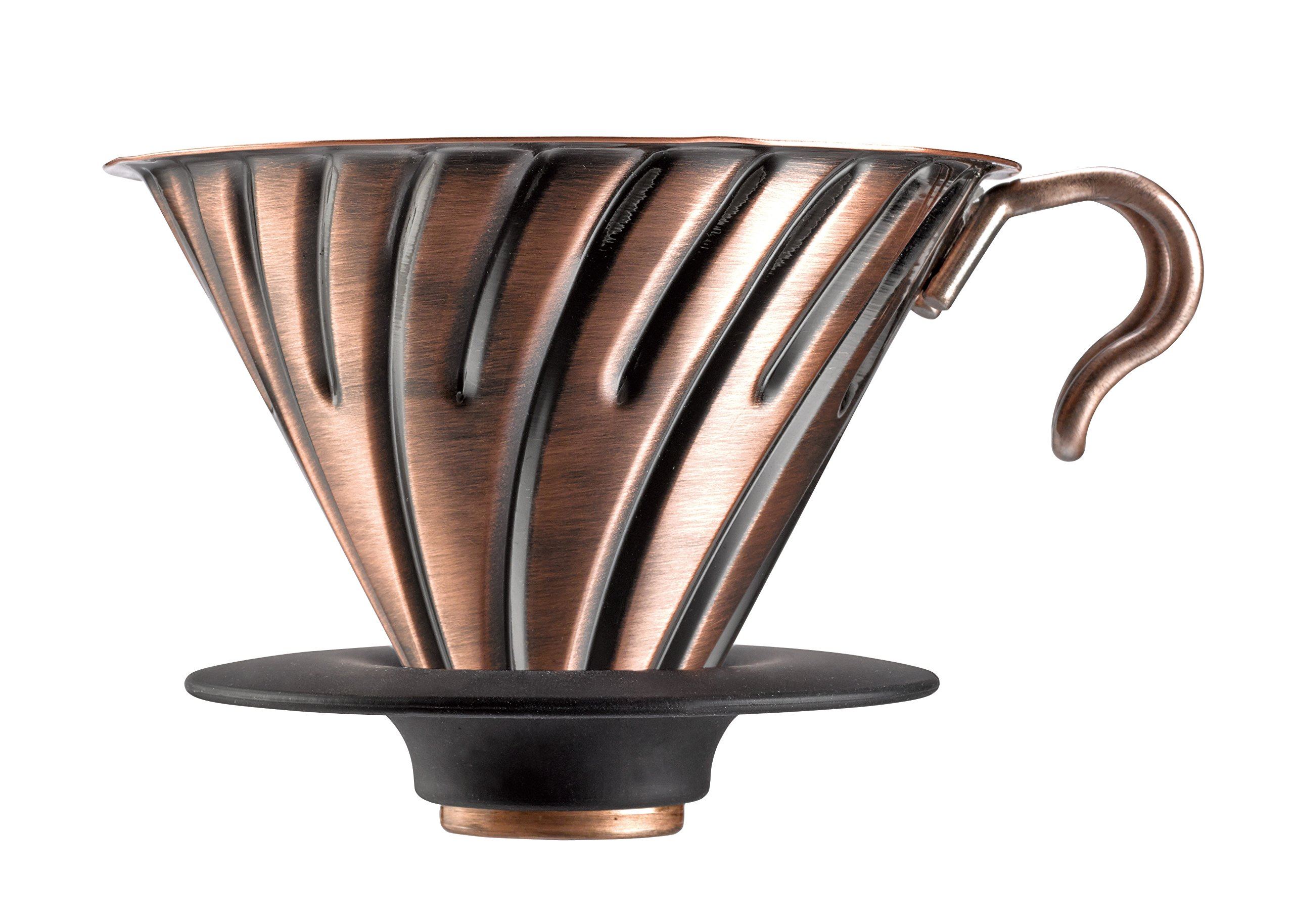 Hario V60 Metal Coffee Dripper, Size 2, Copper