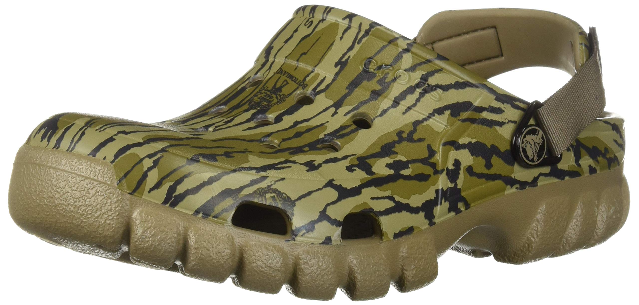 Crocs Offroad Sport Mossy Oak Bottom Clog, Khaki, 11 US Men/ 13 US Women M US