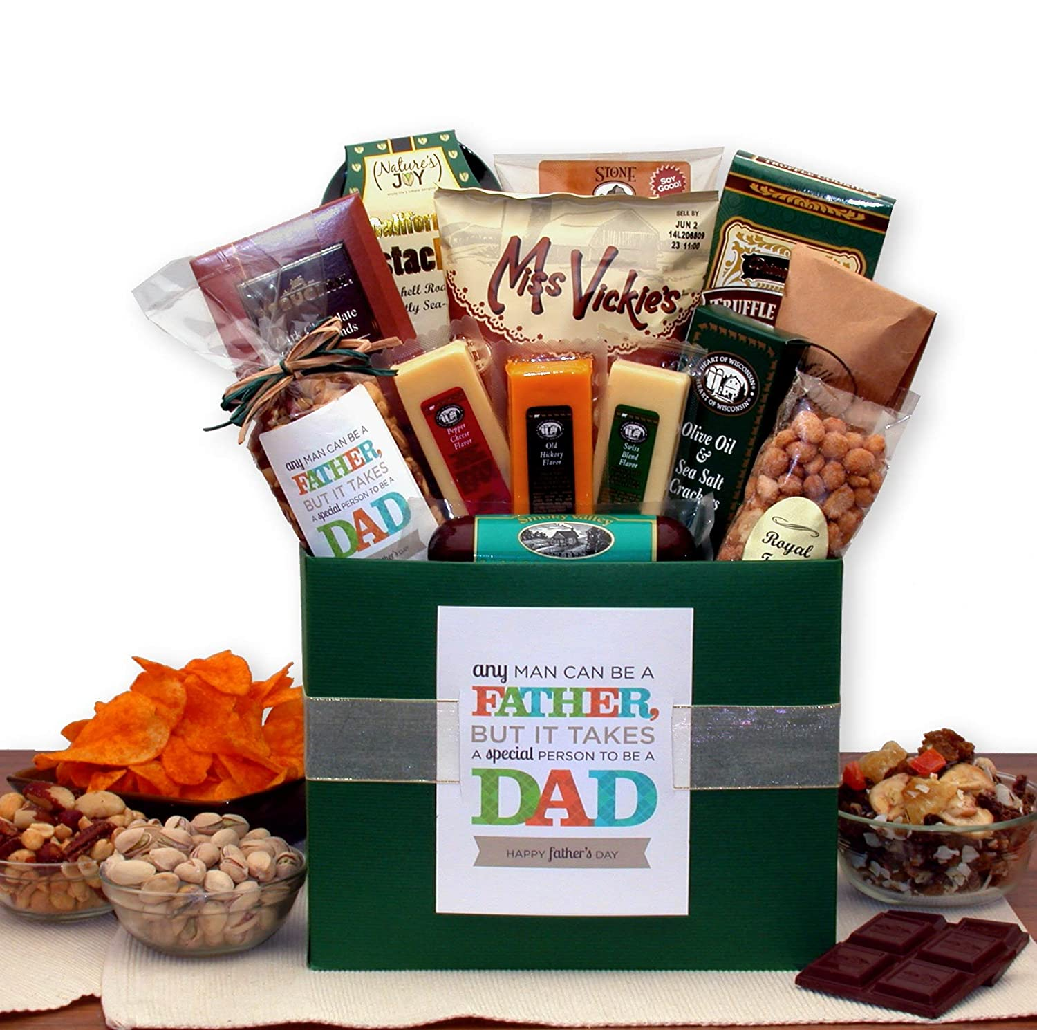 Fathers Day Gift Hamper Basket for Dad Daddy Father/'s Day