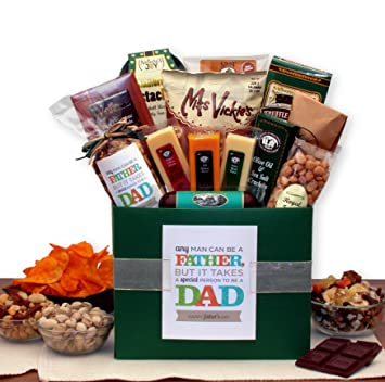 Image Unavailable. Image not available for. Color: Fathers Day Gift Basket ...