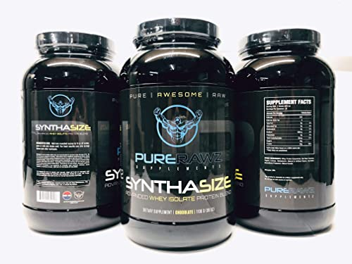 Pure Rawz Supplementz- Pure Protein Whey Isolate Powder for Men and Women, 30 Servings Chocolate Flavor