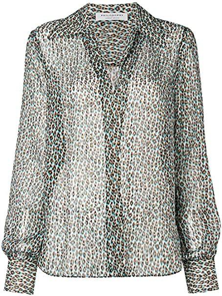 on sale e81bb 78b9c Philosophy Di Alberta Ferretti - Camicia - Donna Bleu Claire ...