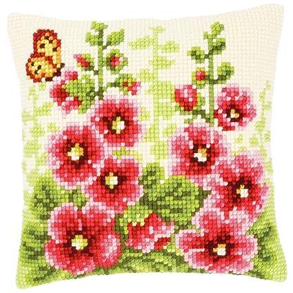 Vervaco - Cojín de punto de cruz, diseño de flores: Amazon ...