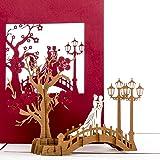 """Hochzeitskarte 3D """"Bridge of Love"""" Hochzeit & Verlobung - Hochzeitskarte, Einladung, Wedding Cards - Verlobungskarte, Hochzeitseinladung & Geschenk"""