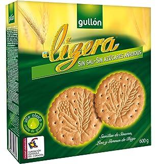Gullón - Ligera - Galletas sin sal y sin azúcares añadidos 600 g - [pack
