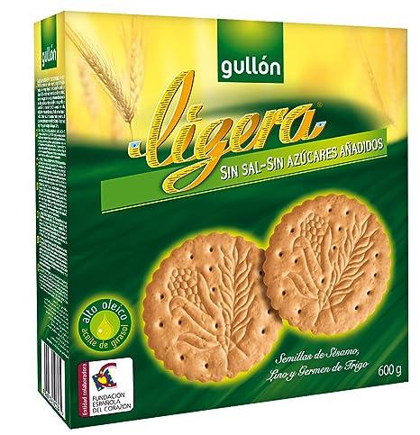 Gullón Ligera Galletas sin Sal y sin Azúcares Añadidos - 600 g