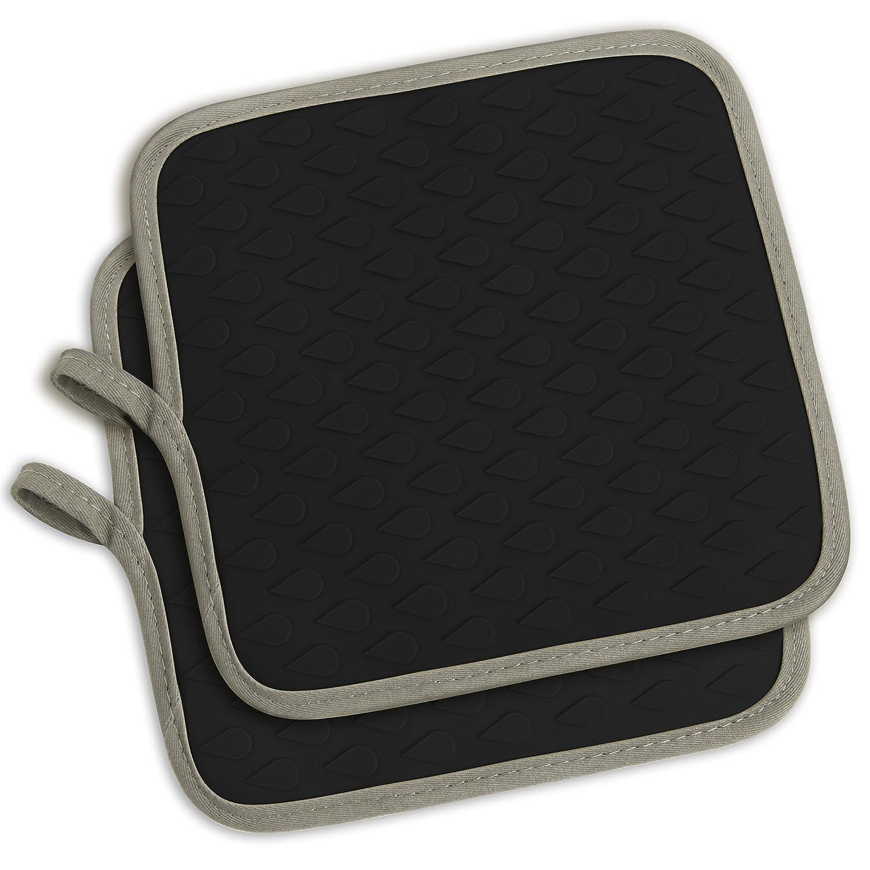 Tophome Multipurpose carr/é four Mitaines Gants de griller Tapis de S/échage en silicone antid/érapant Maniques Silicone R/ésistant /à la chaleur Hot Pads Insulationwaterproof
