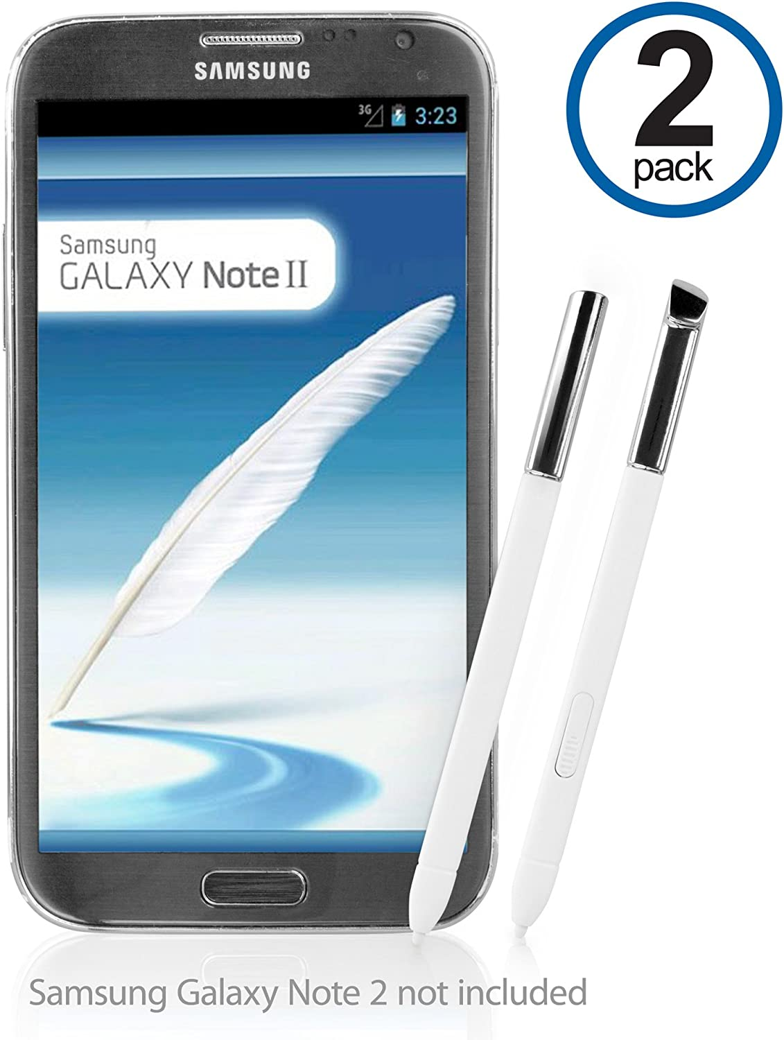 Galaxy Note 2 lápiz Capacitivo, BoxWave® [S Pen (2-Pack)] de ...
