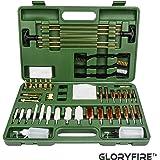 GLORYFIRE Universal Gun Cleaning Kit Hunting Rifle Handgun Shot Gun Cleaning Kit for All Guns with Case Travel Size…
