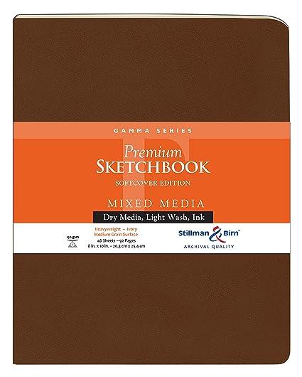 Stillman & Birn Gamma Softcover Sketchbook, Heavyweight 100lb, Ivory, 48  Sheets 8x10