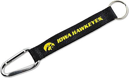 Metal Ring NCAA University Iowa Hawkeyes 1 Inch Lanyard Key Strap
