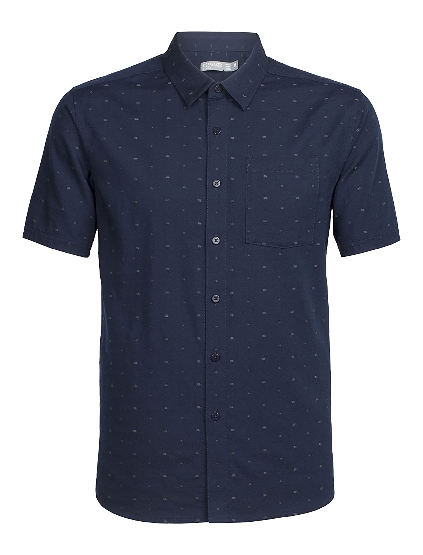 68c74b07e5 Icebreaker Merino Men's Cool-Lite Compass Short Sleeve Woven Shirt:  Amazon.ca: Sports & Outdoors
