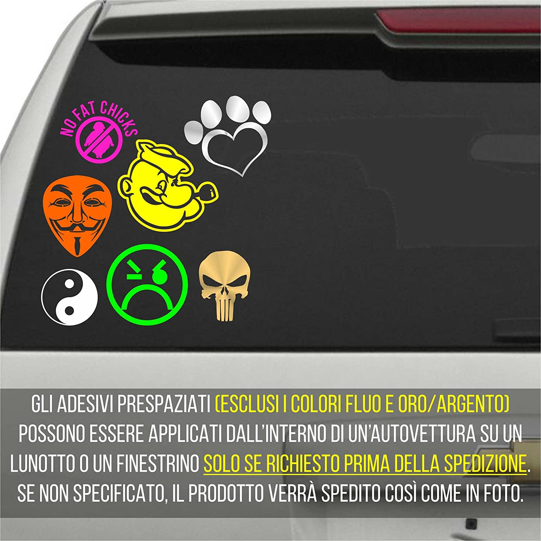cm 35 erreinge Sticker Lombardia Bandiera Scudo Italia Adesivo Sagomato in PVC per Decalcomania Parete Murale Auto Moto Casco Camper Laptop