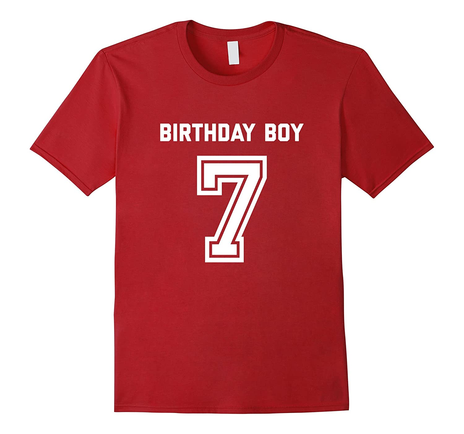7th Birthday Shirt Gift Age 7 Year Old Boy Tshirt Boys Tee RT