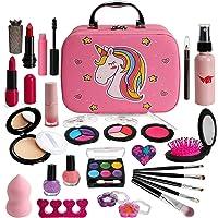 Flybay Kids Makeup Kit for Girls, Real Makeup Set, Washable Makeup Kit Toys for Little Girls Child Pretend Play Makeup…