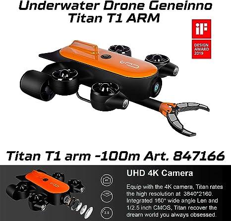 Geneinno Unterwasserdrohne Mit Roboterarm Titan 100m T6t 1 100bl Underwater World Angeln Aufnahme 847166 Sport Freizeit