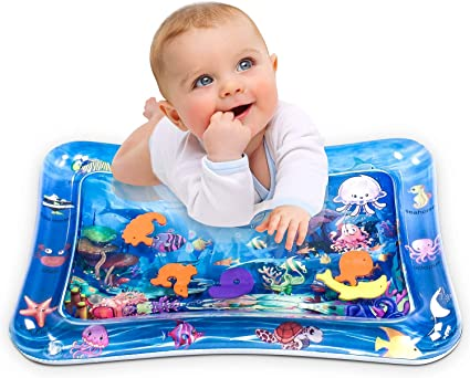 Amazon.com: Infinno Tummy Time Mat Baby Water Play Mat, Activity ...